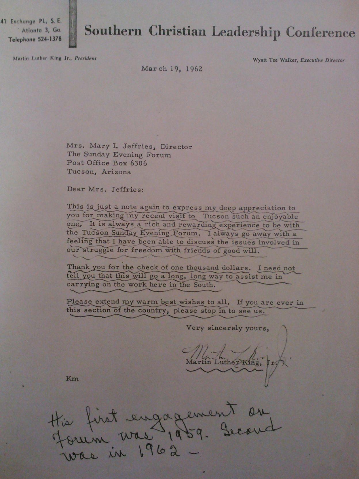 sample thank you letter email%0A Street Smarts  MLK Jr  visited  u    Papago u     reservation in       was   u    fascinated u       Local news   tucson com