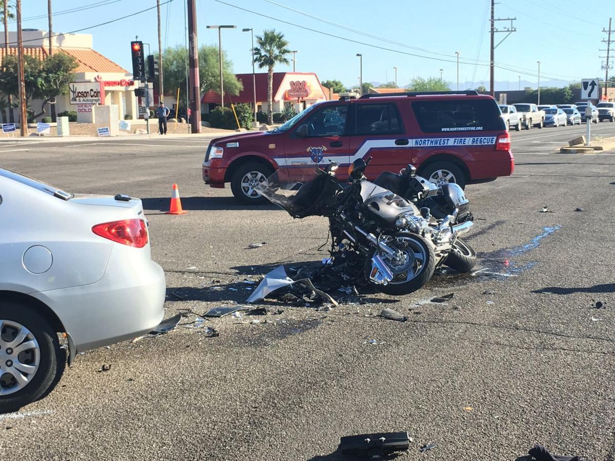 Man Seriously Injured In Northwest Tucson Motorcycle Crash