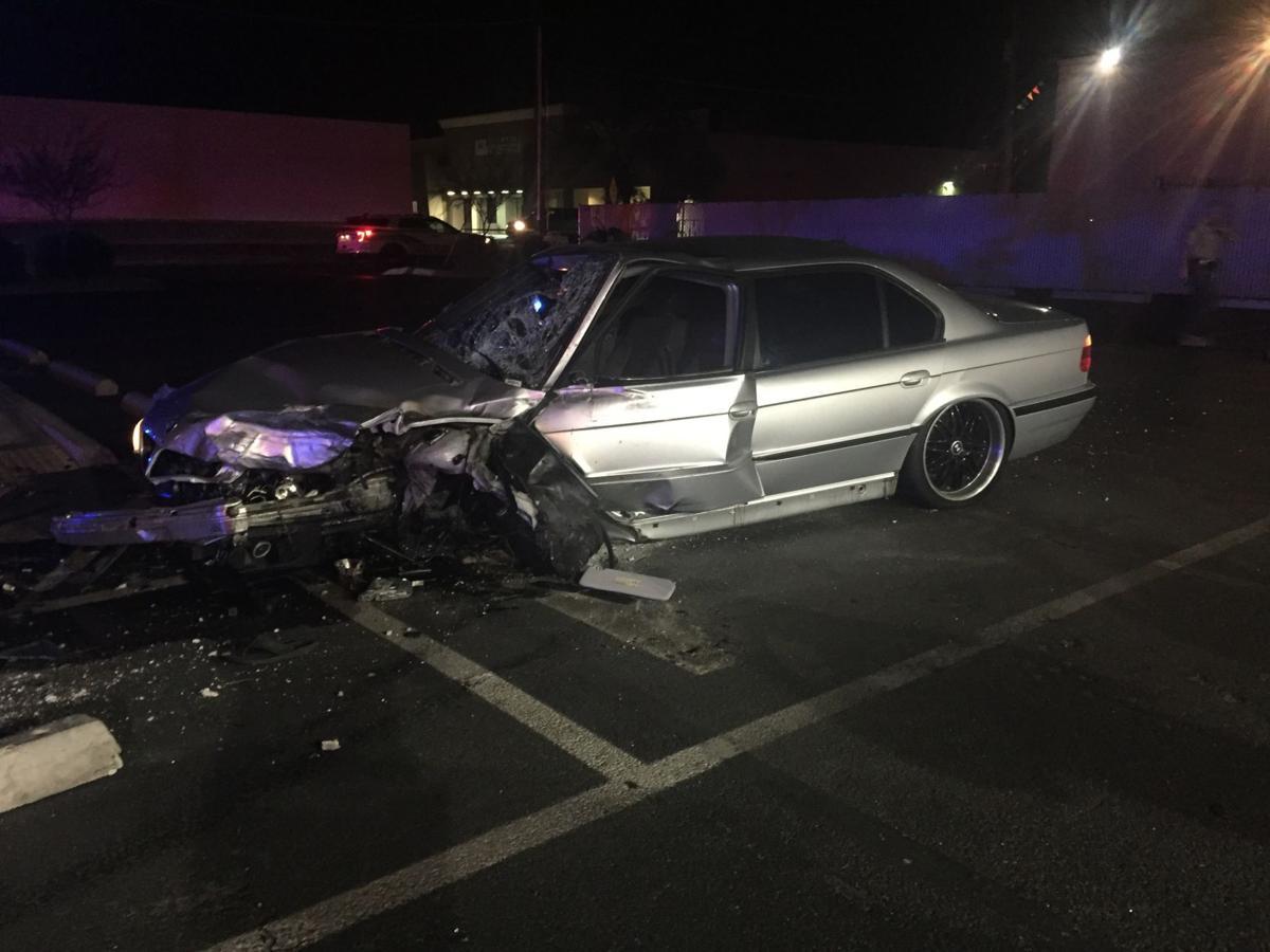 Deadly pedestrian crash scene