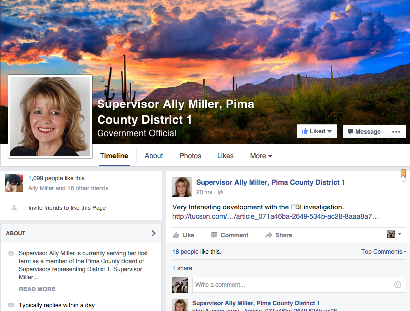 Ally Miller Facebook page