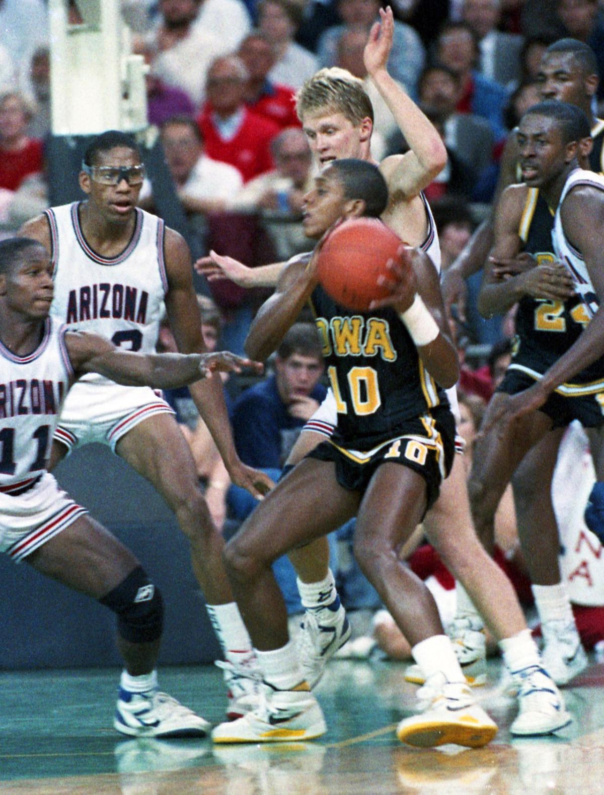 1. Arizona 66, Iowa 59, December 1987