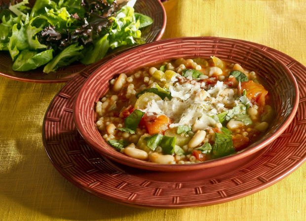 Pasta e Fagioli soup is a hearty, simple offering for 2 or a crowd