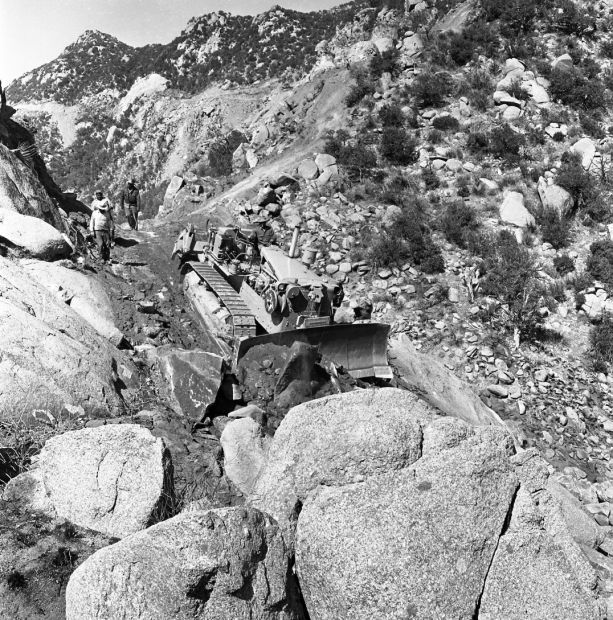 Building the road to Kitt Peak National Observatory