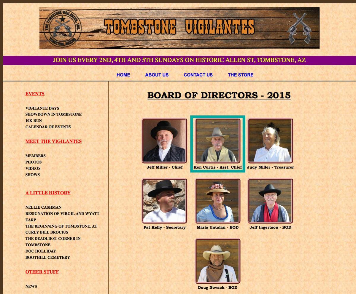 Tombstone Vigilantes website