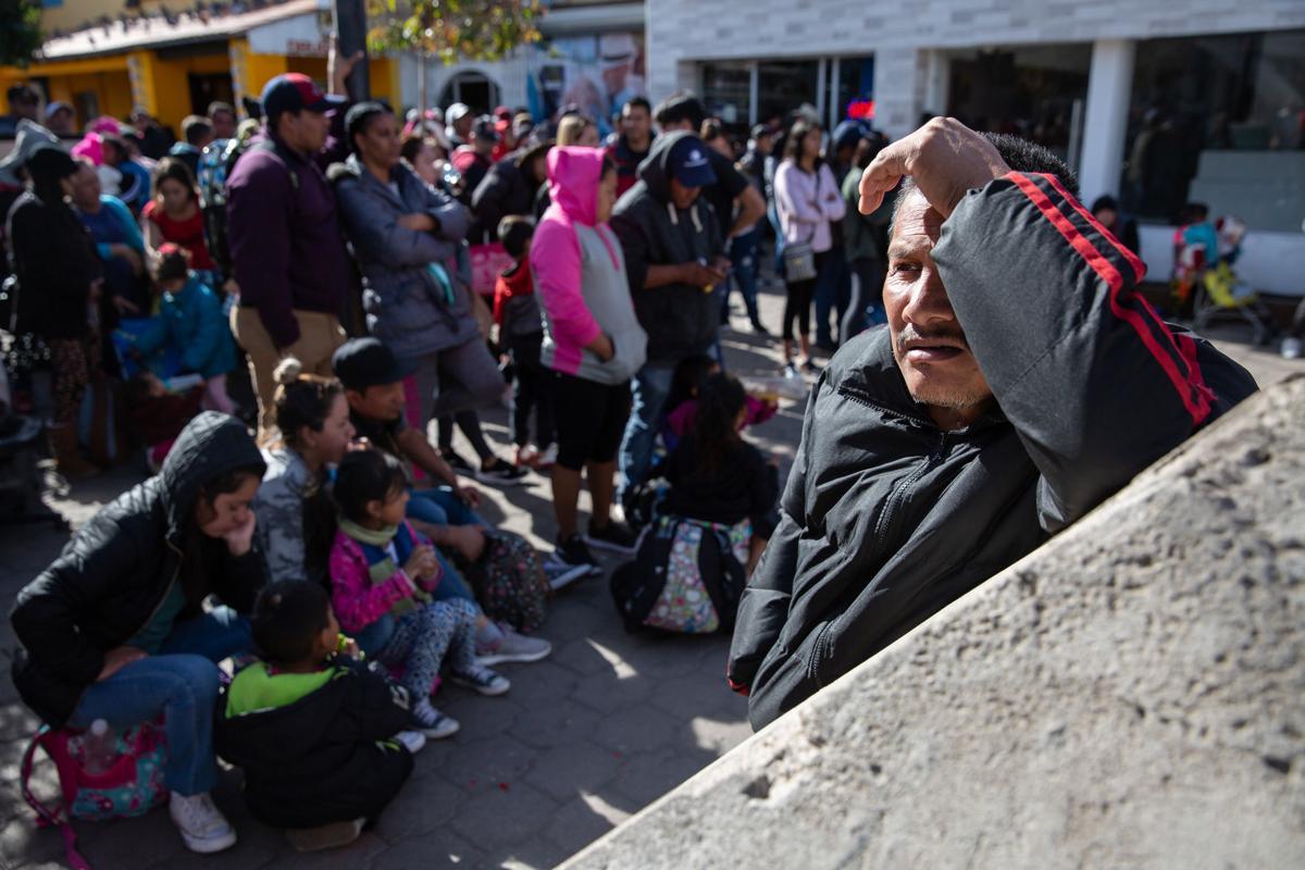 Solicitantes de asilo en Nogales, Son. (LE)