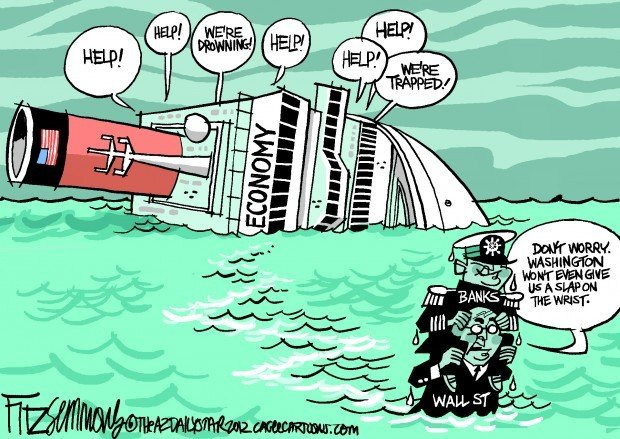 Daily Fitz Cartoon: Cowardly Captains of Industry