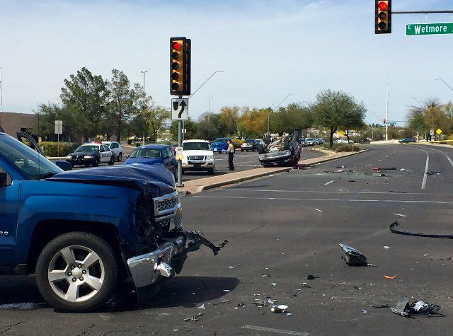 4 vehicles involved in serious injury collision on tucson for Arizona motor vehicle division tucson az 85713