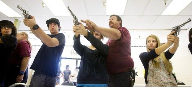High school public safety class gets a shot at gun-use training