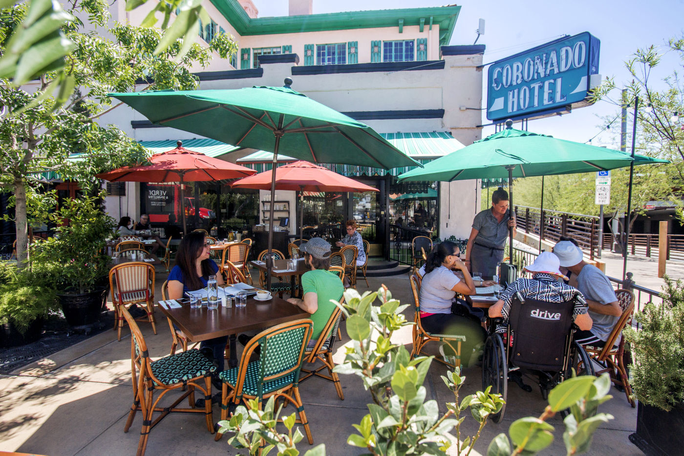The Colorful Patio Of The Coronet Offers Some Of The Best People Watching  And Street Action In Town. For Breakfast And Lunch, The Patio Is Shaded  With Big ...