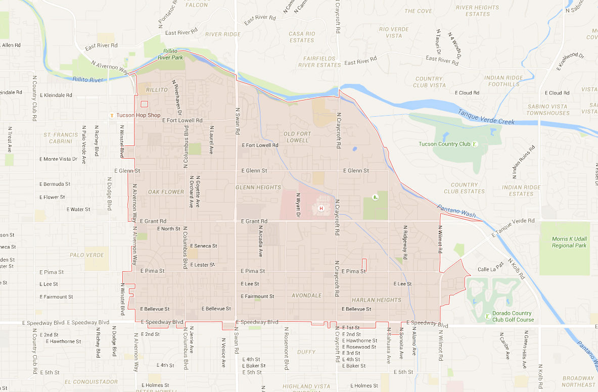 Zip Code Map Tucson on