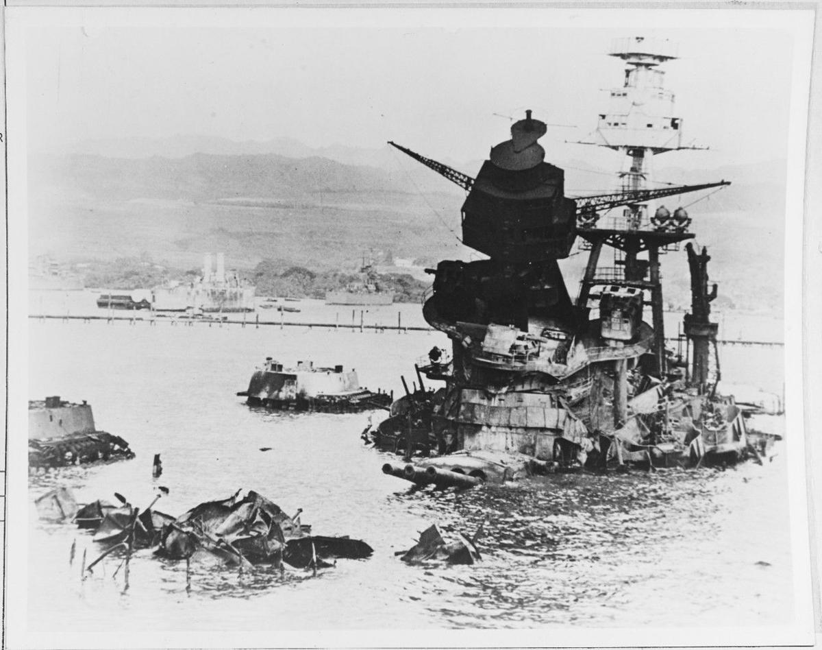 Rarely seen photos of the USS Arizona, sunk Dec  7, 1941, in