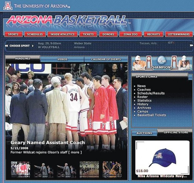 Redesign Gives Ua Web Site Fresh Look Sports Tucson Com