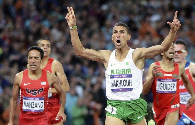 Track and field: Makhloufi gets break, wins gold