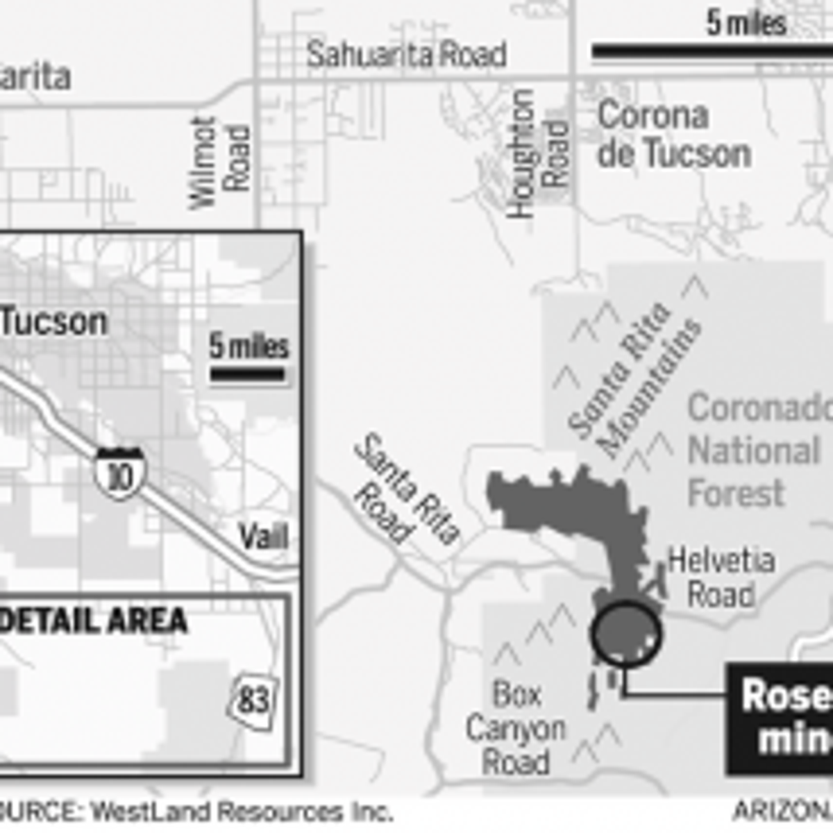 Map Of Arizona 1858.Lawmakers Decry Us Stance That It Can T Block Rosemont Mine