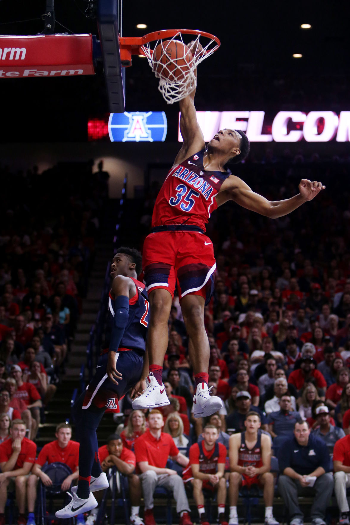 Arizona Wildcats basketball Red/Blue scrimmage