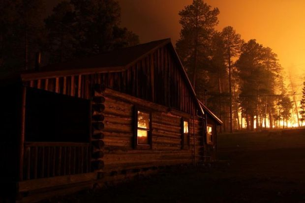 Historic cabins saved by burnouts during the Thompson Ridge Fire