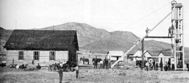 1880s saw first ore flow from Johnson Camp Mine