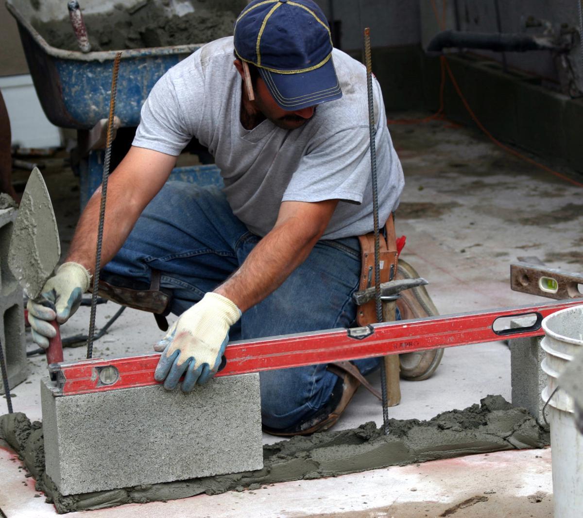 concrete block bbq