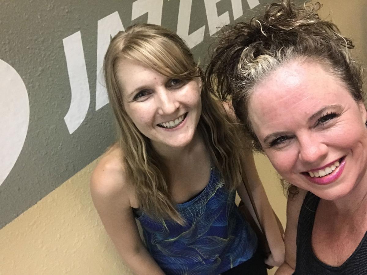 Johanna and Angela try Jazzercise