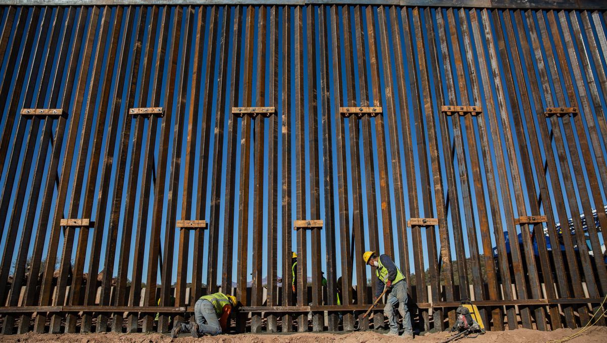 Border wall near Lukeville, Ariz. (LE)