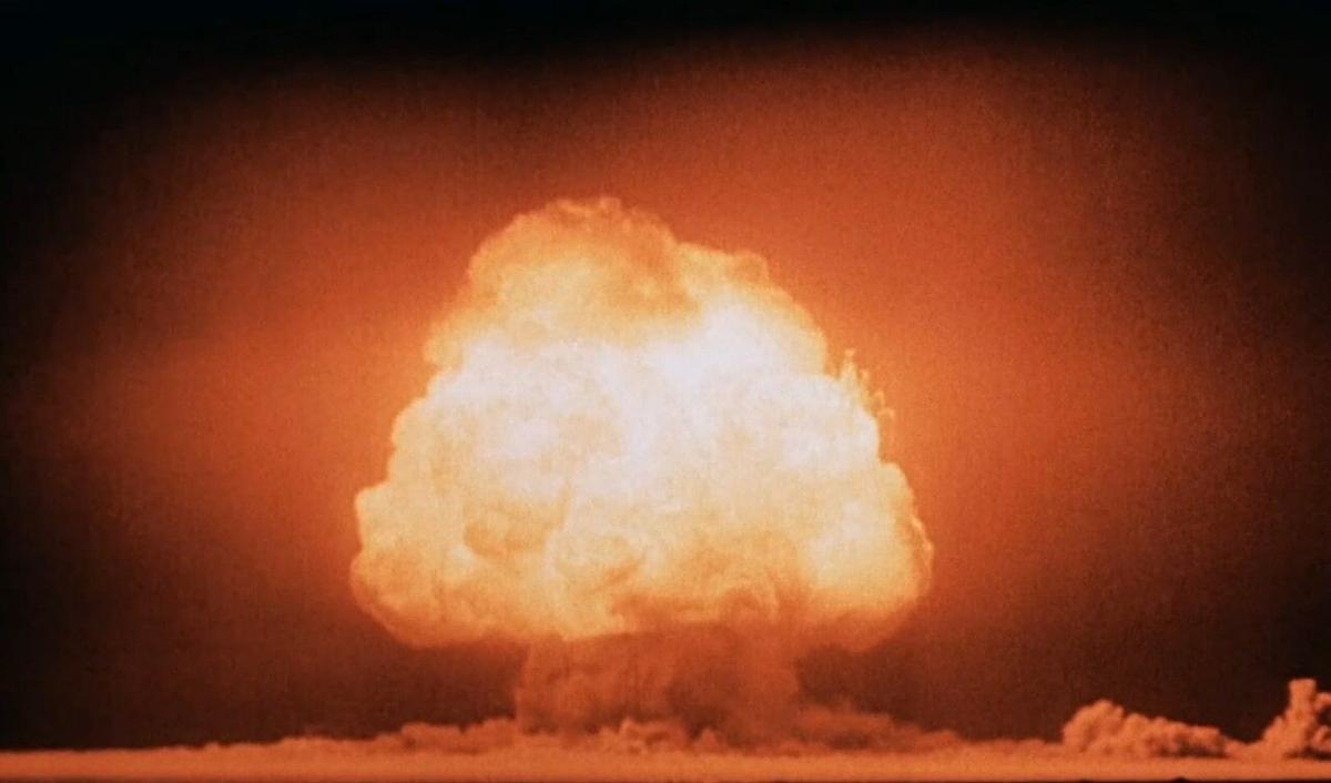 Nuclear bomb test, Trinity Site, New Mexico