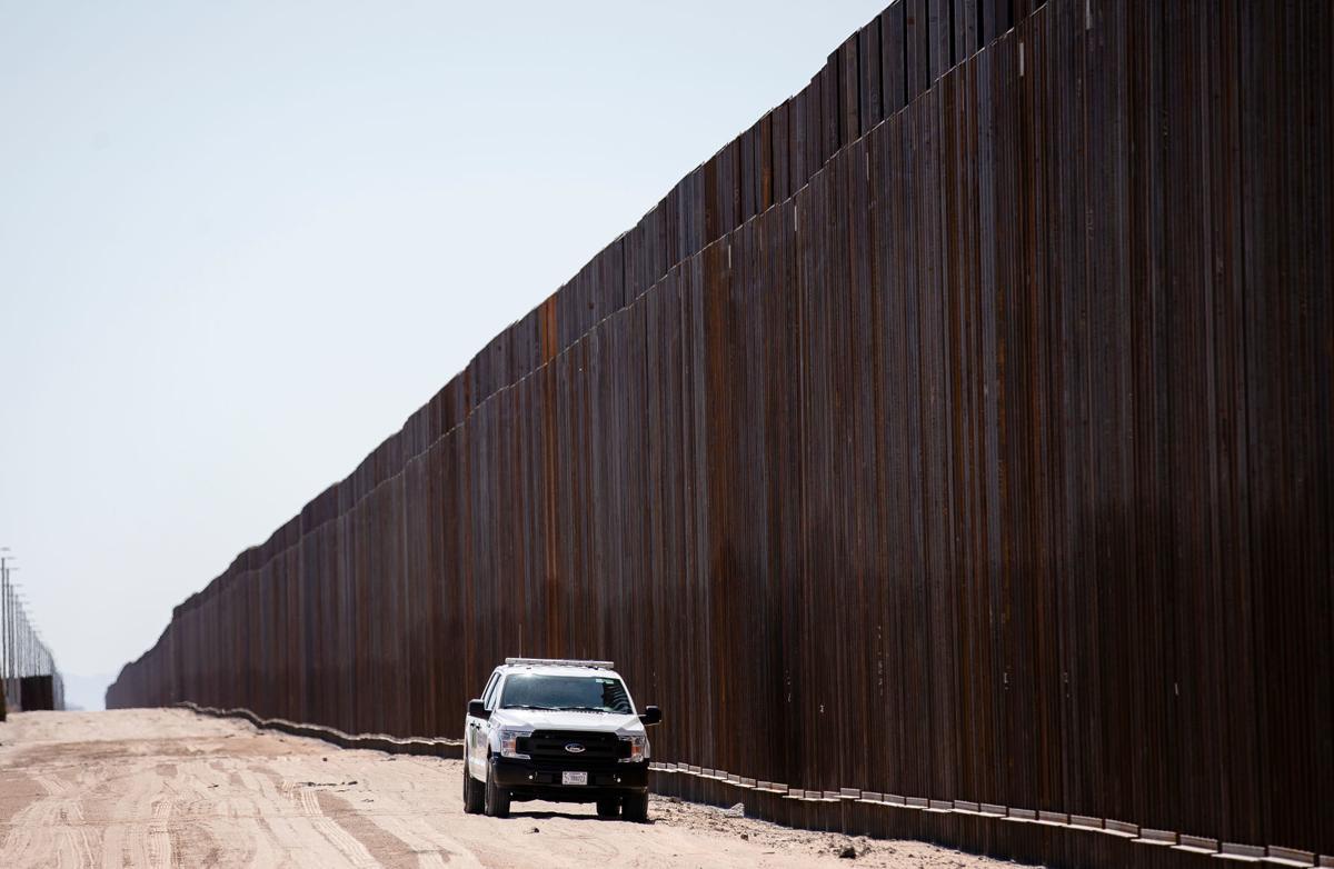 Border wall near San Luis, Ariz.