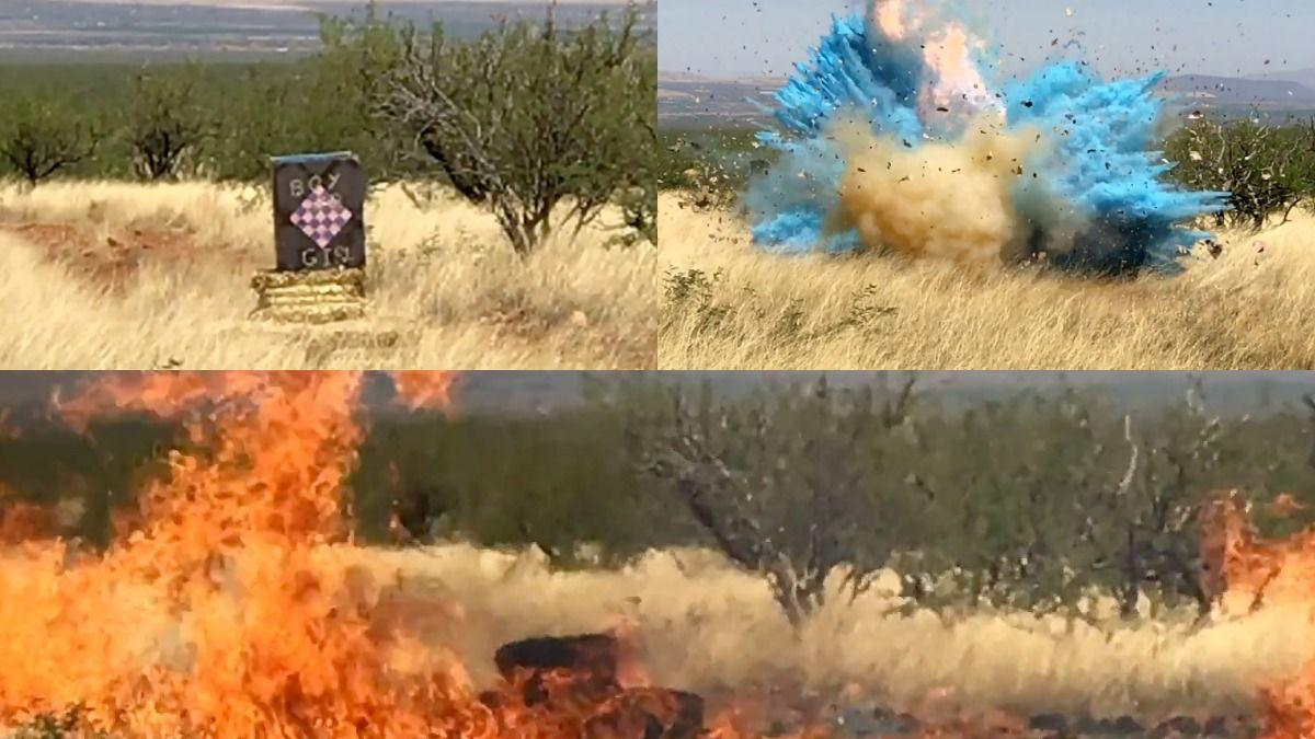 Video of explosion at border agent's gender-reveal party that sparked Arizona wildfire released