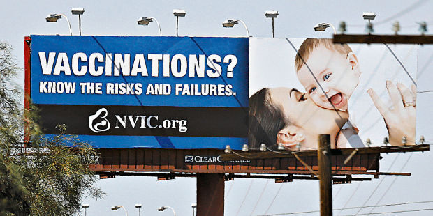 Vaccine billboard in Tucson misleads, health officials say