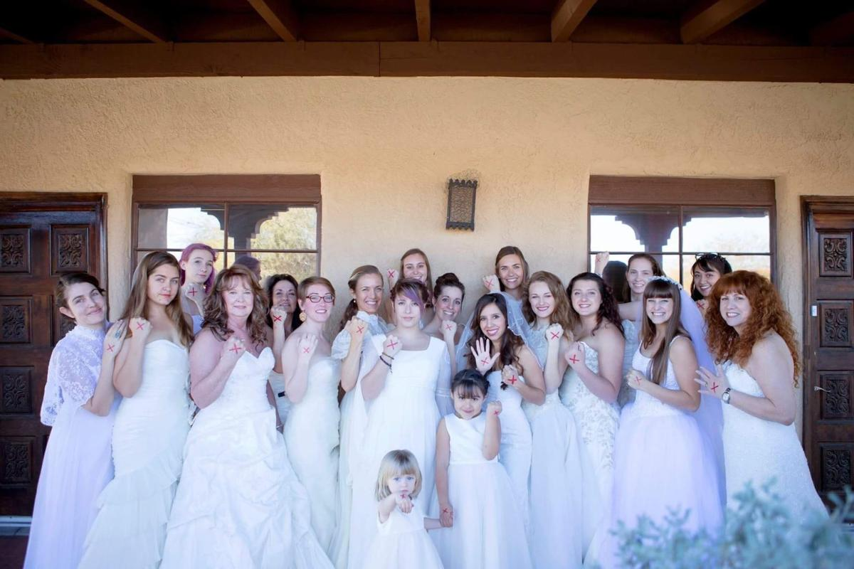1d48704fac Why were these Tucson women wearing wedding dresses and an ...