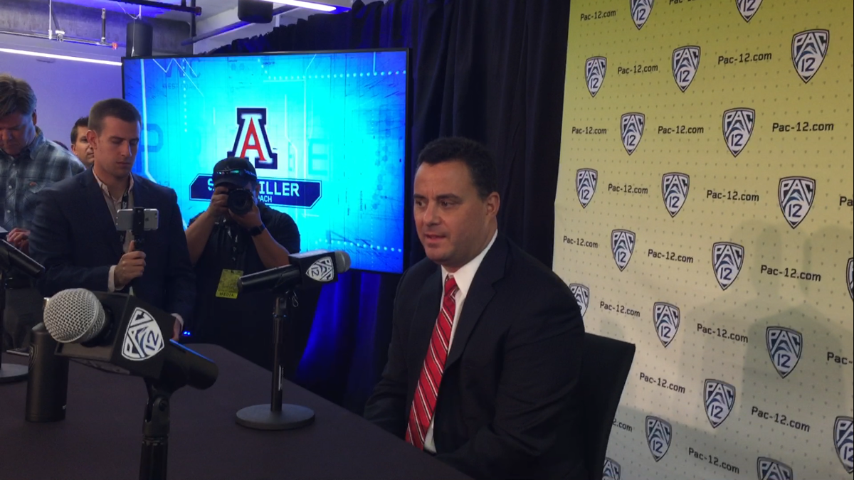 Sean Miller at Pac-12 media day