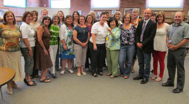 Ben's Bells: School counselor Arlene Doran of Anna Henry Elementary awarded Ben's Bell