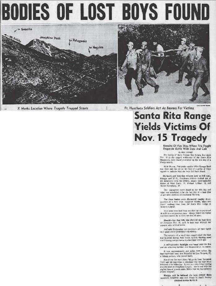 Bodies of lost boys found (Dec. 5, 1958)