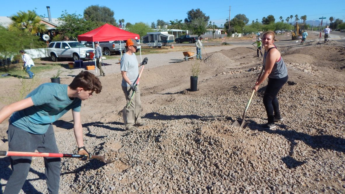 Shannon Road Neighborhood Planting Party — Watershed Management Group at Flowing Wells