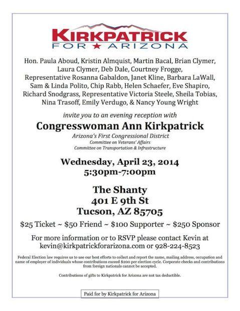 Kirkpatrick for Arizona fundraiser