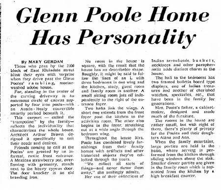 Tucson Citizen article Jan. 2, 1960
