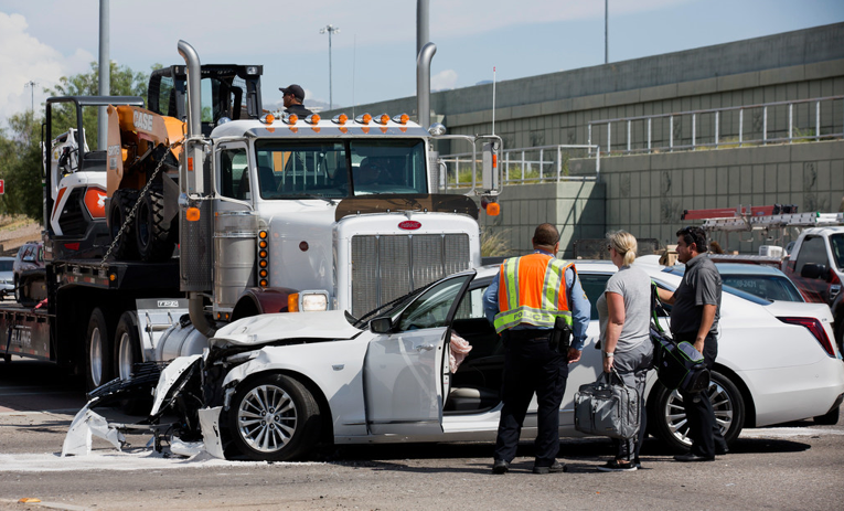 Four-vehicle collision in Tucson