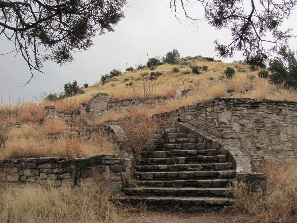 Prison camp ruins