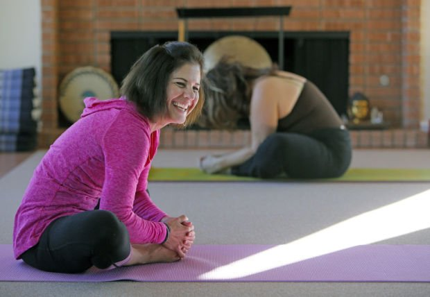 Karen Callan: Author and yoga lover bends to love's touch