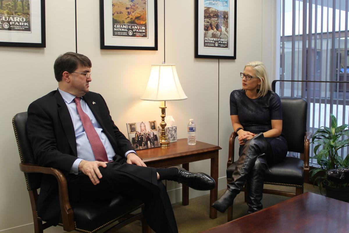 Sinema meets with Wilkie