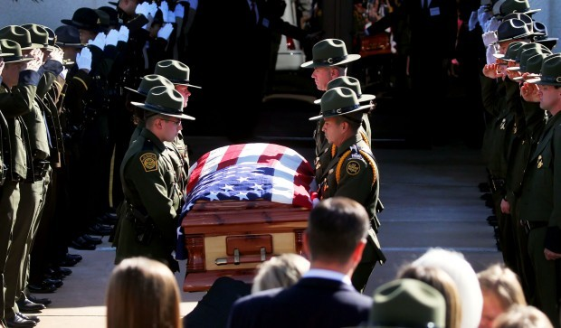 Hundreds gather in Sierra Vista for border agent's funeral