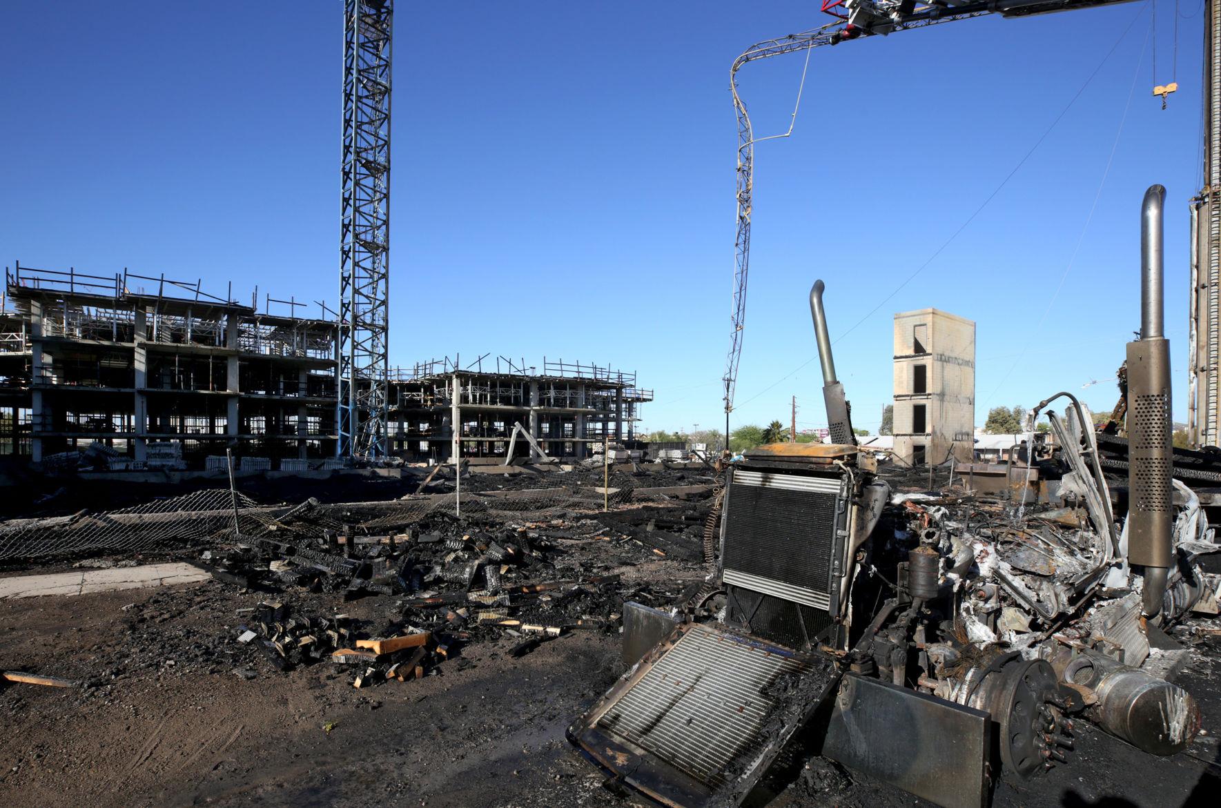 Overnight fire engulfs Tucson construction site south of UA campus | Tucson.com