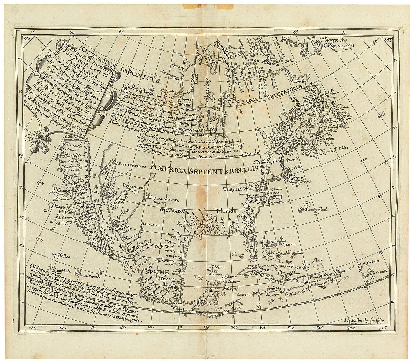 Early 17th century map among first to show California as island