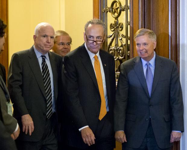 Chuck Schumer, Robert Menendez, Lindsey Graham, John McCain