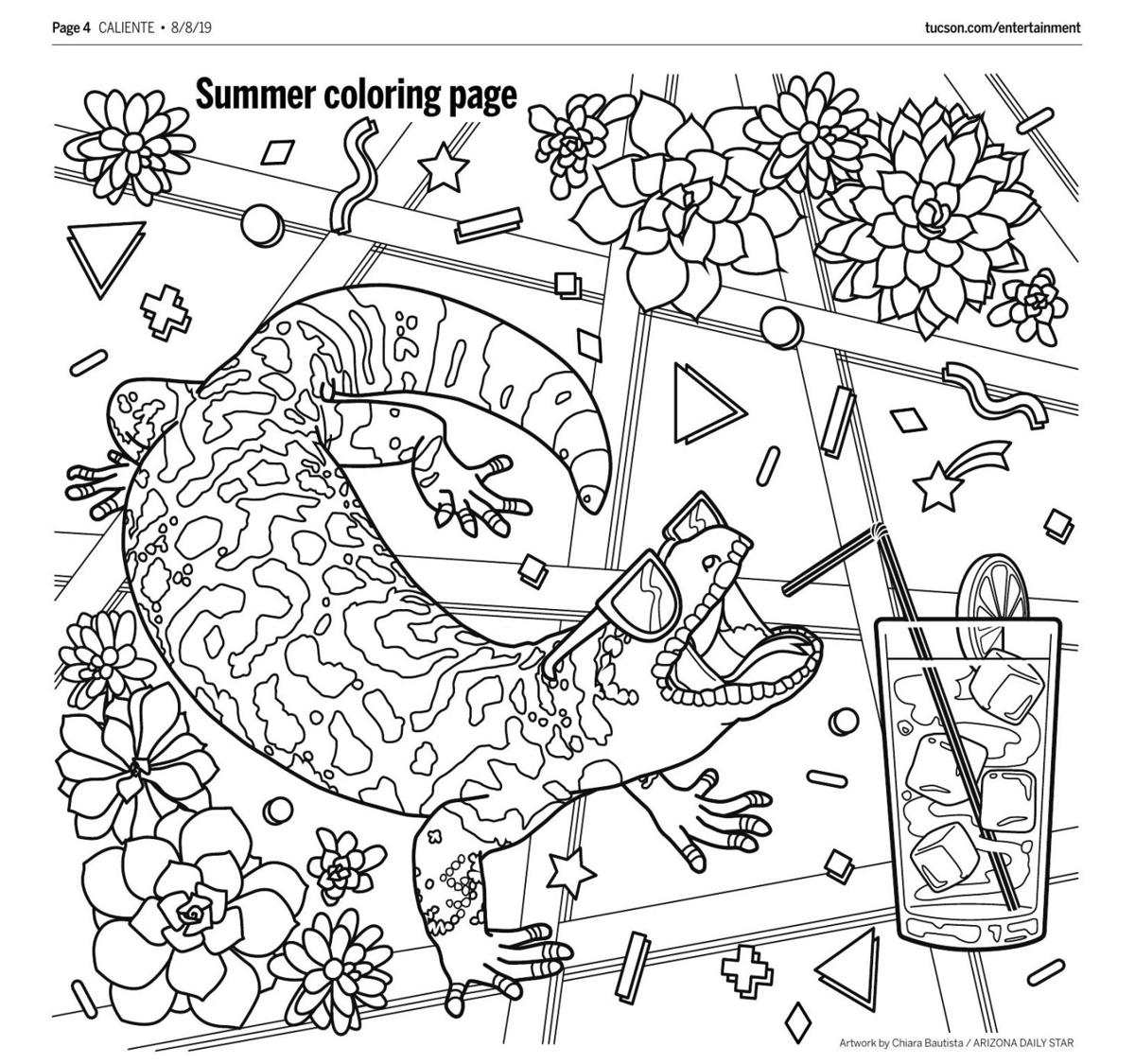 August 8 coloring page