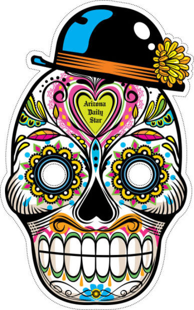 News 4 Tucson >> Day of the Dead masks to print, clip, wear, tweet ...