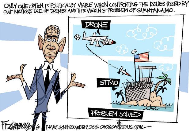 Daily Fitz Cartoon: Drones and GITMO