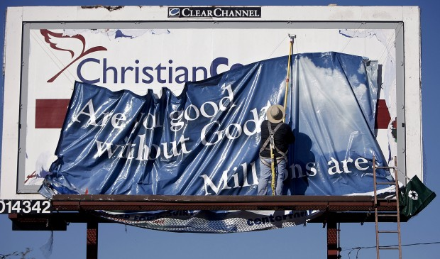 Godless life can be good, local group says on sign