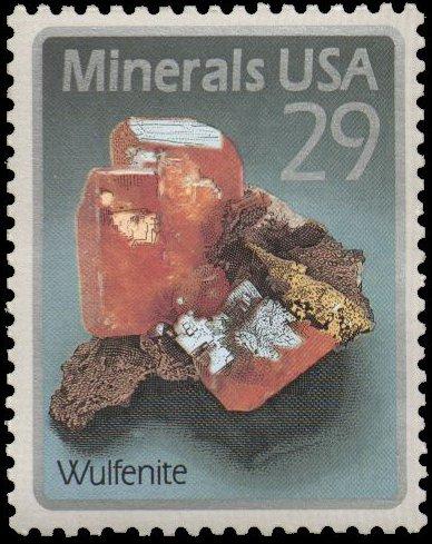 Wulfenite stamp