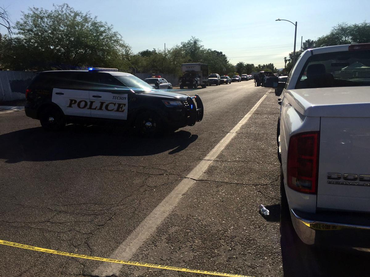 Tucson police continue search for man they say shot at officer during stop
