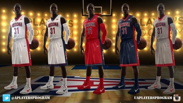 UA's five new uniforms